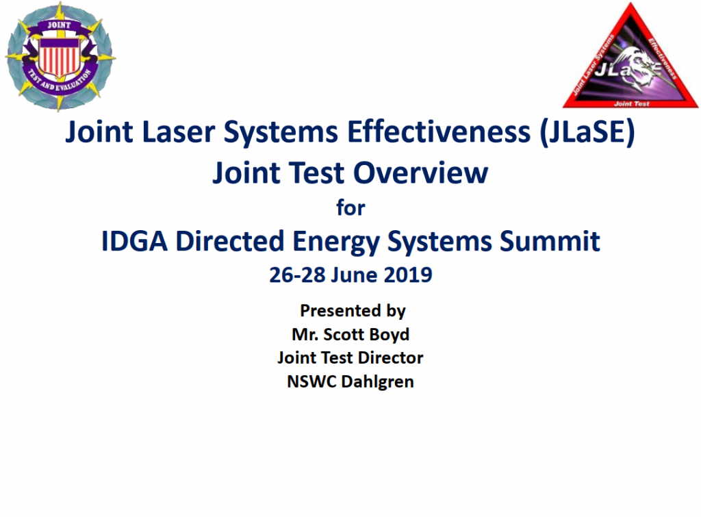 Updates on the Joint Laser Systems Effectiveness Joint Test Program
