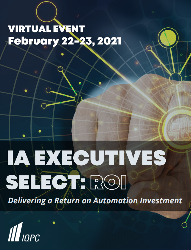 View Your Virtual Event Guide - Intelligent Automation Select