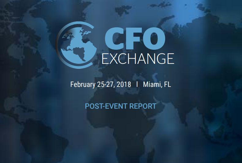 NEW! Chief Financial Officer Exchange Post-Event Report