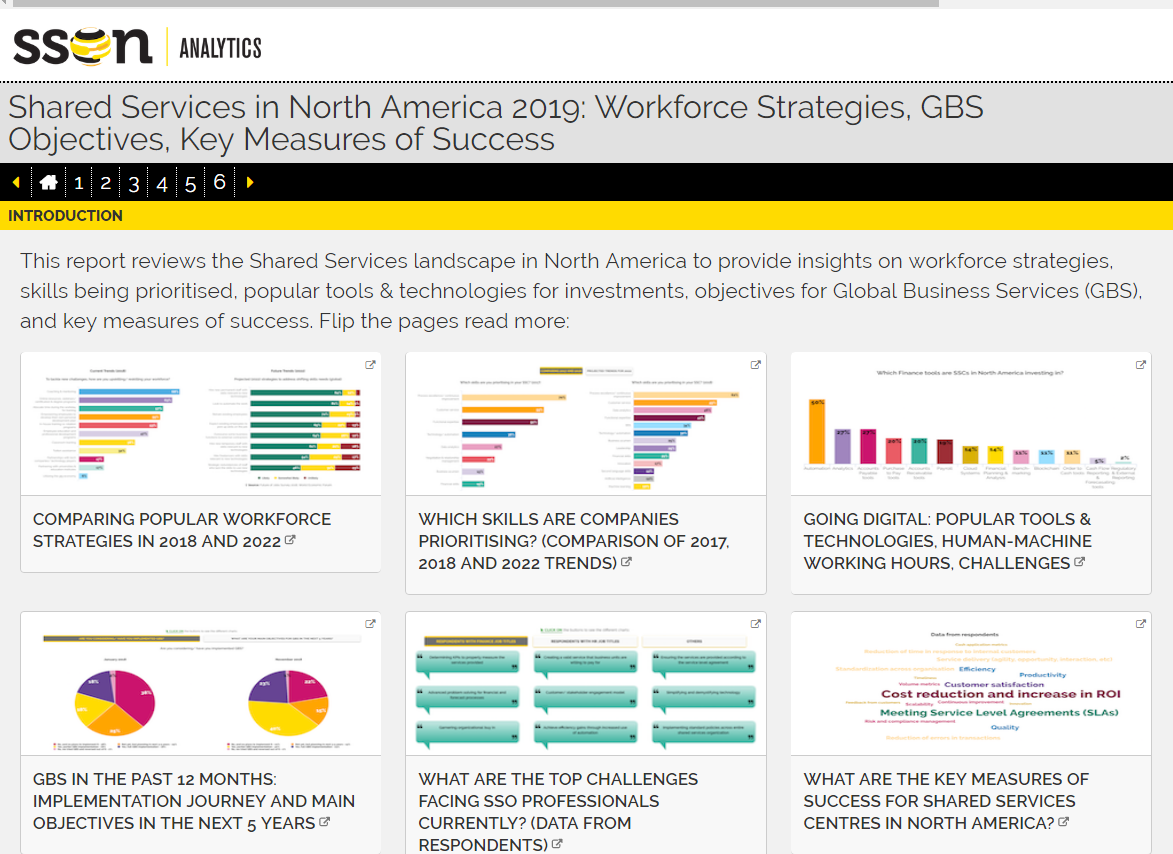 Shared Services in North America 2019: Workforce Strategies, GBS Objectives & Key Measures of Success