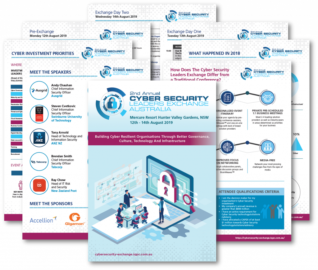 Cyber Security Leaders Exchange 2019 - Sponsor Information Pack
