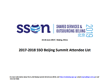 SSO Beijing Summit - Attendee List