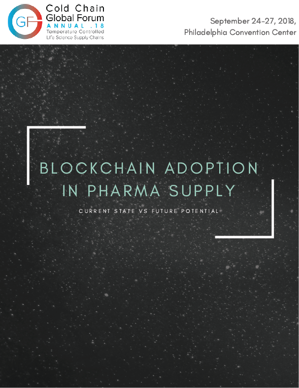 Blockchain Adoption in Pharma Supply Whitepaper