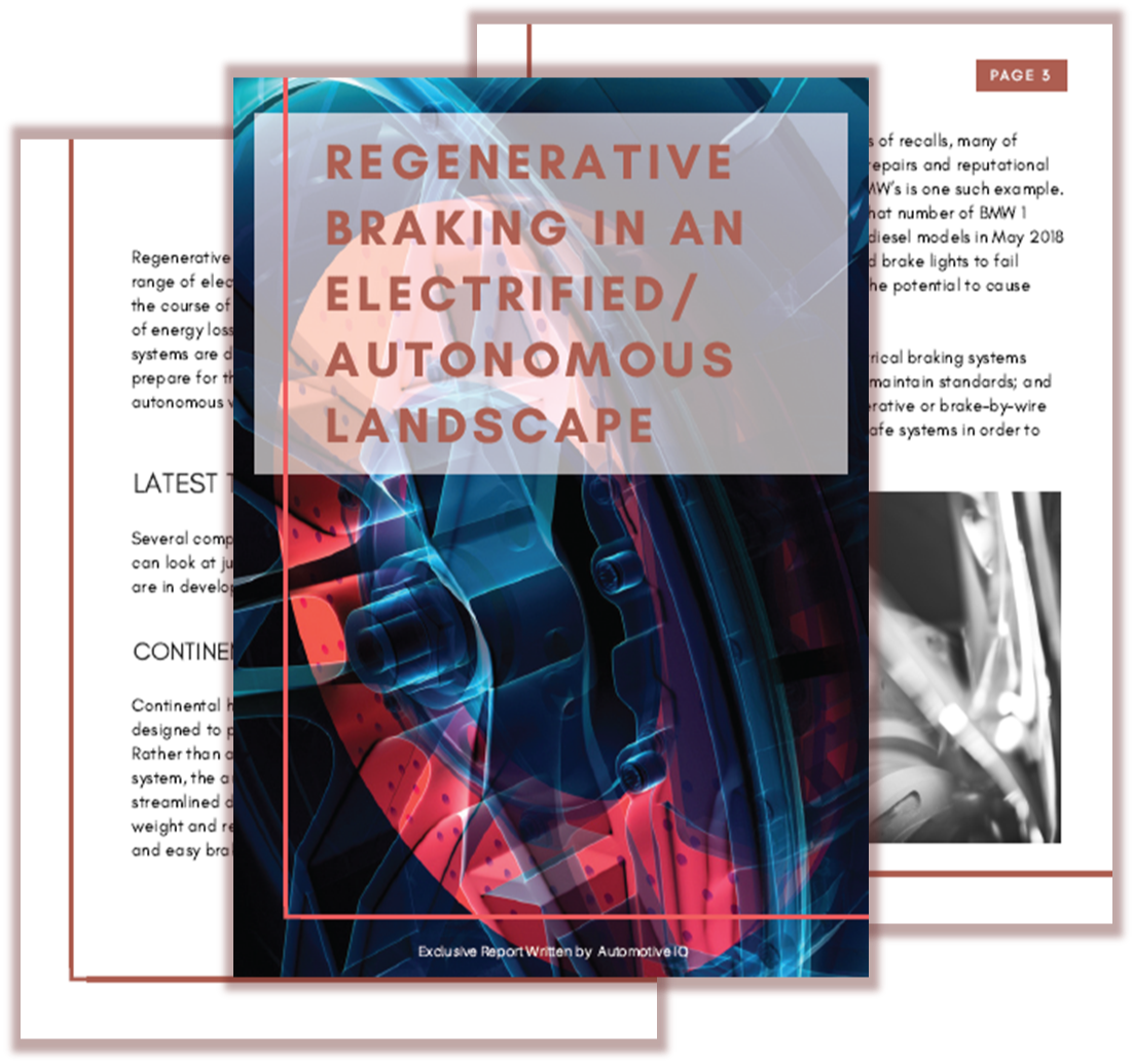 Report on regenerative braking in an electrified/autonomous landscape