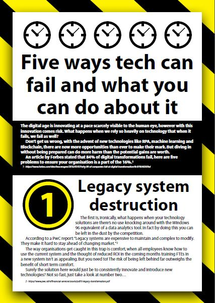 Five ways tech can fail and what you can do about it
