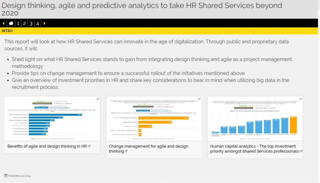 Design Thinking, Agile and Predictive Analytics to Take HR Shared Services Beyond 2020