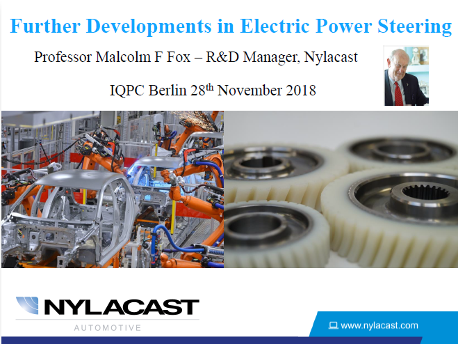 Further Developments in Electric Power Steering - Nylacast Presentation