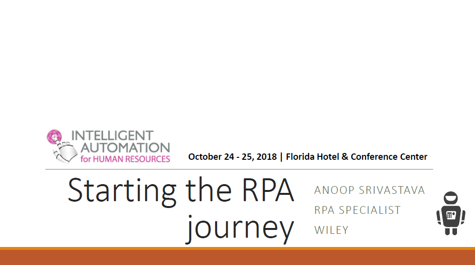 Starting the RPA Journey