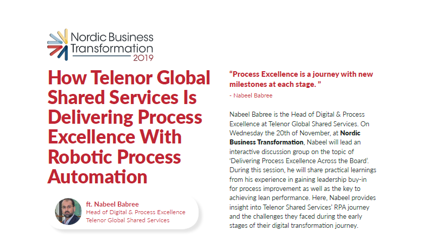 Interview with Nabeel Babre | Delivering Process Excellence With Robotic Process Automation