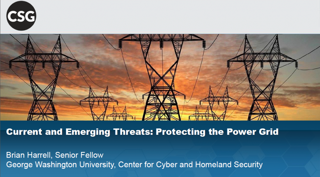 Identifying Emerging Threats to the Grid and Effective Responses After an Event