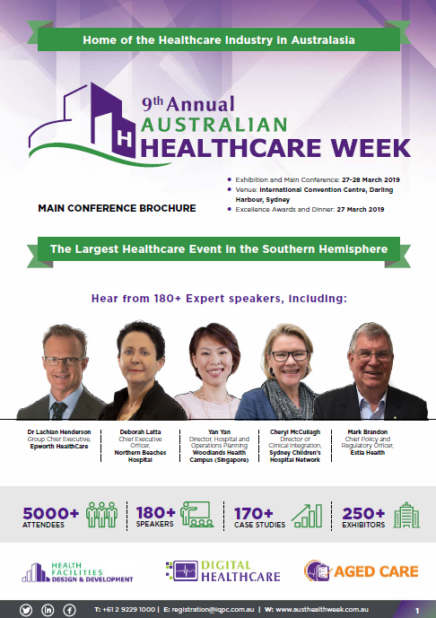 View Final Conference Agenda - The 9th Annual Australian Healthcare Week 2019