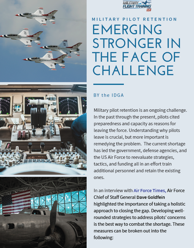 Military Pilot Retention: Emerging Stronger in the Face of Challenge
