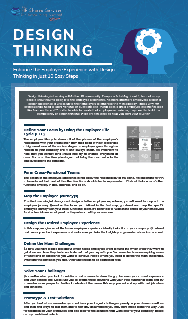 Enhance the Employee Experience with Design Thinking in Just 10 Easy Steps