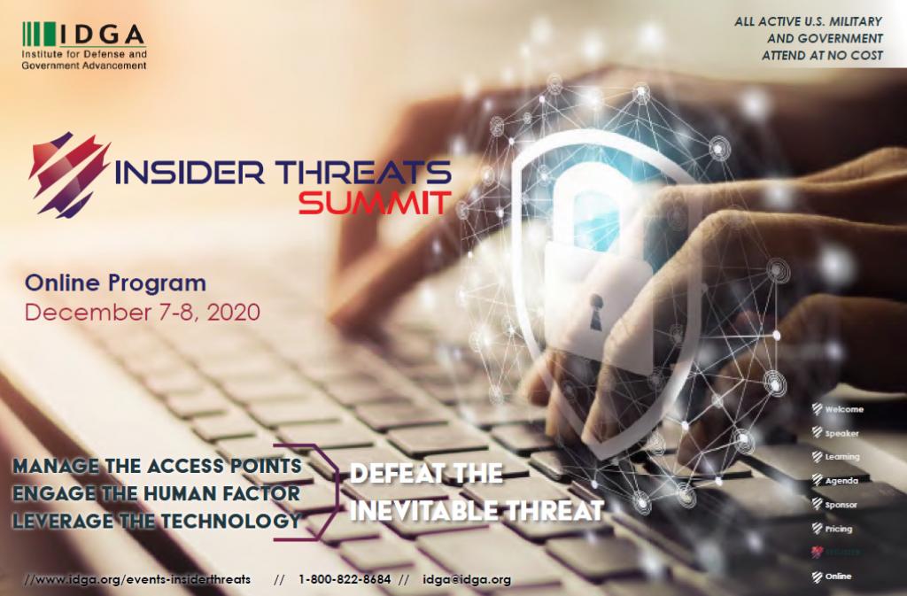 Insider Threats 2020 Online Agenda