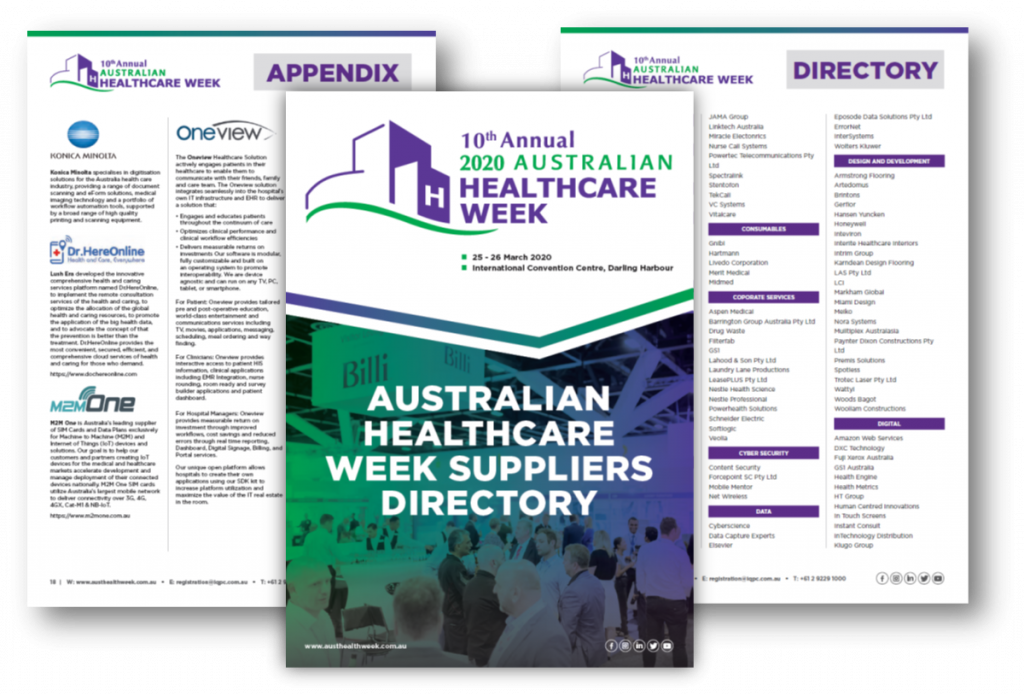 Australian Healthcare Week 2020 Suppliers Directory