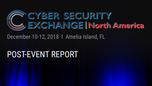 Cyber Security Exchange 2018 - Post Event Report
