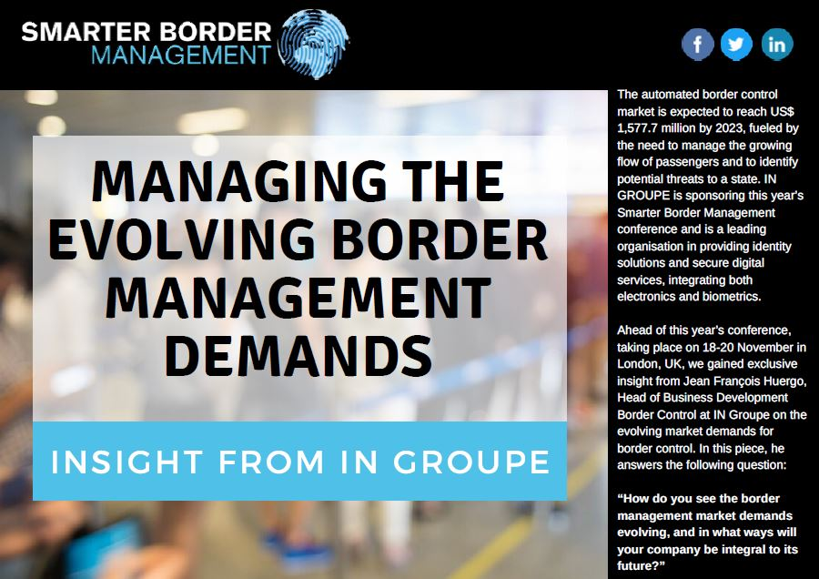 Managing the evolving border management demands: Insight from IN GROUPE