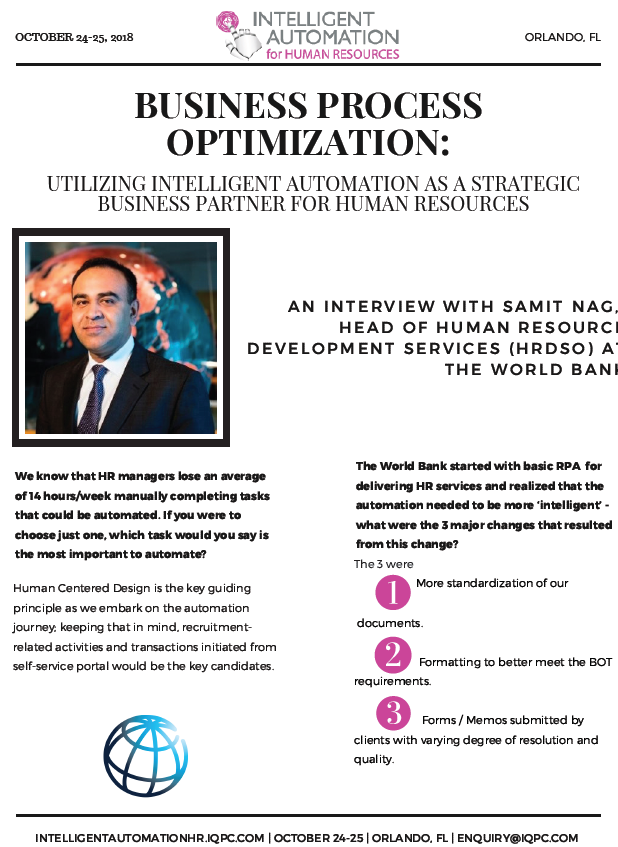 Business Process Optimization: Utilizing Intelligent Automation as a Strategic Business Partner for Human Resources