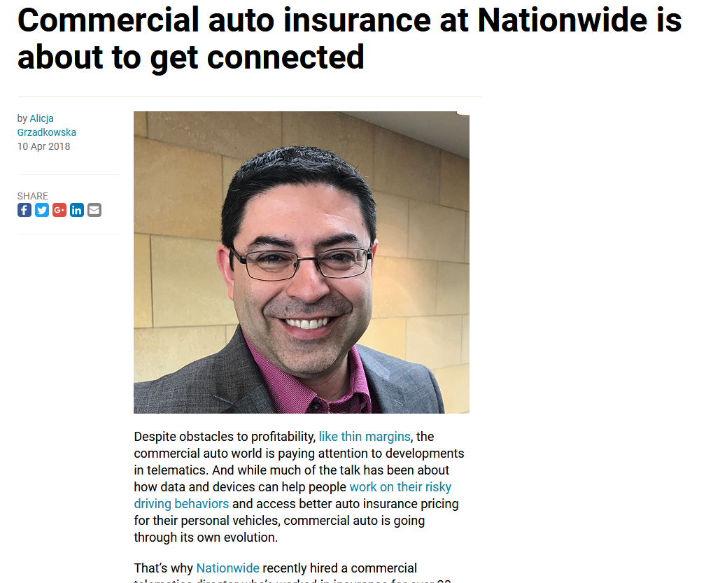 Commercial Auto Insurance at Nationwide is About to Get Connected