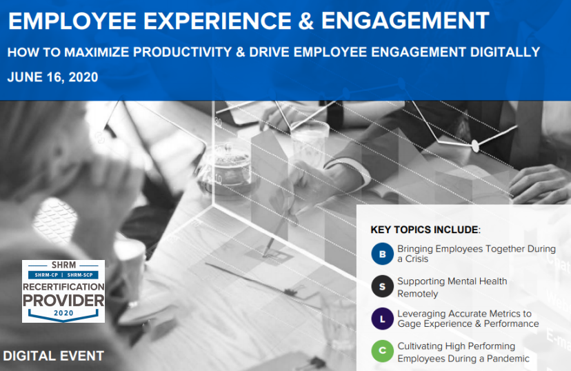 Employee Experience & Engagement ONLINE 2020 Agenda