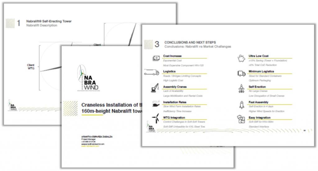 Arantxa Presentation on Craneless Installation of the 160m-height Nabralift Tower Prototype