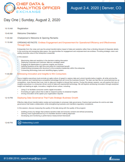 Download the 2020 CDAO August Virtual Agenda