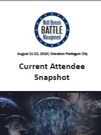 Multi-Domain Battle Management 2019 - Current Attendee Snapshot