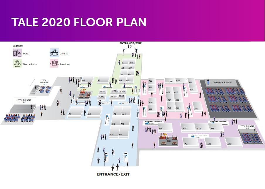TALE 2020 - Exhibitor Floor Plan