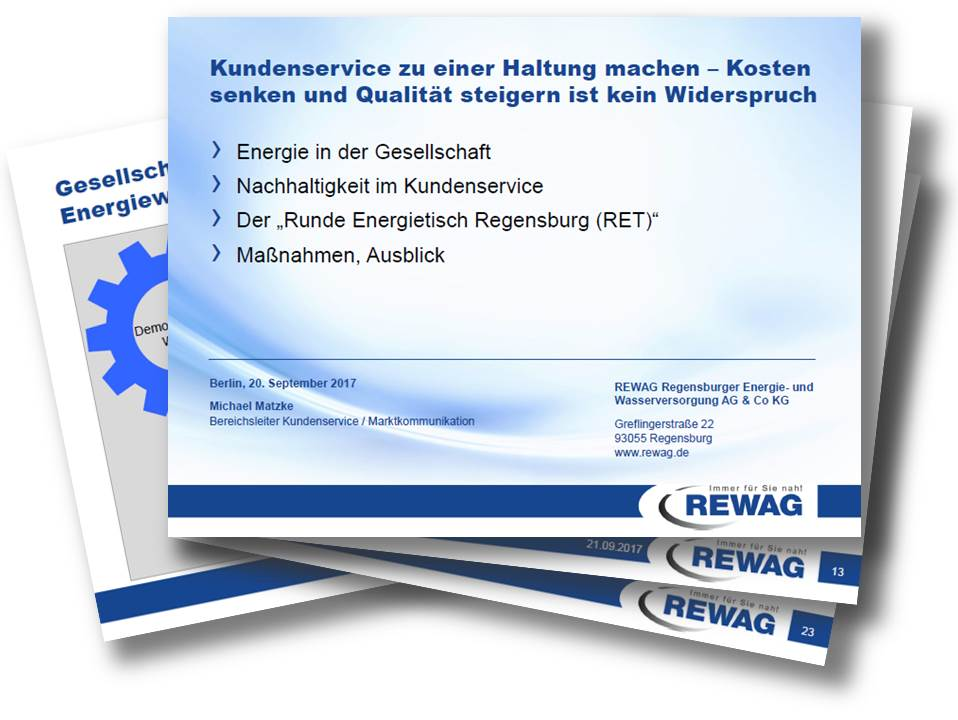 Mit nachhaltigem Kundenservice zu Top-Performance – REWAG Präsentation