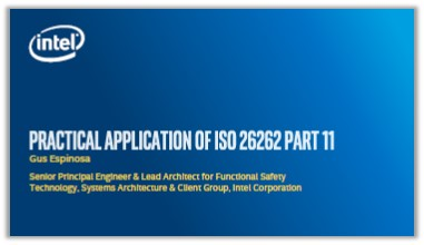 Intel Presentation: Practical Application of ISO 26262 Part 11