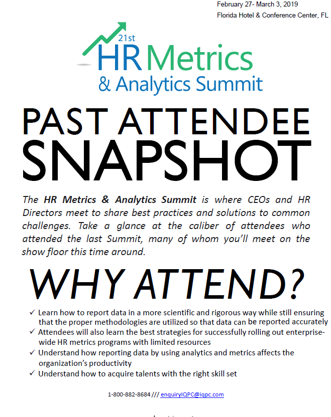 Who attends: Past Attendee Snapshot