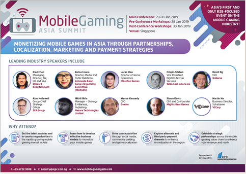Mobile Gaming Asia Summit 2019 - Sponsorship Opportunities