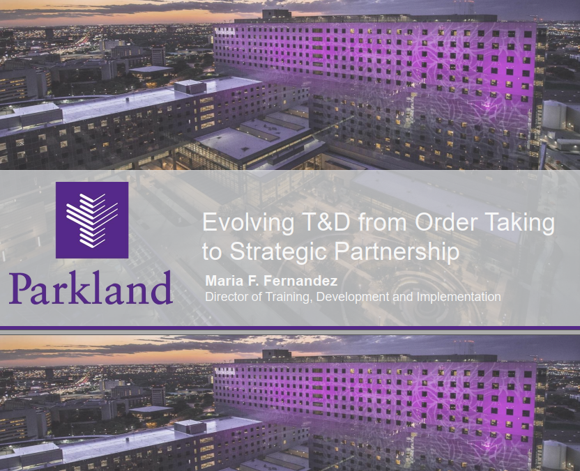 Evolving T&D from Order Taking to Strategic Partnership