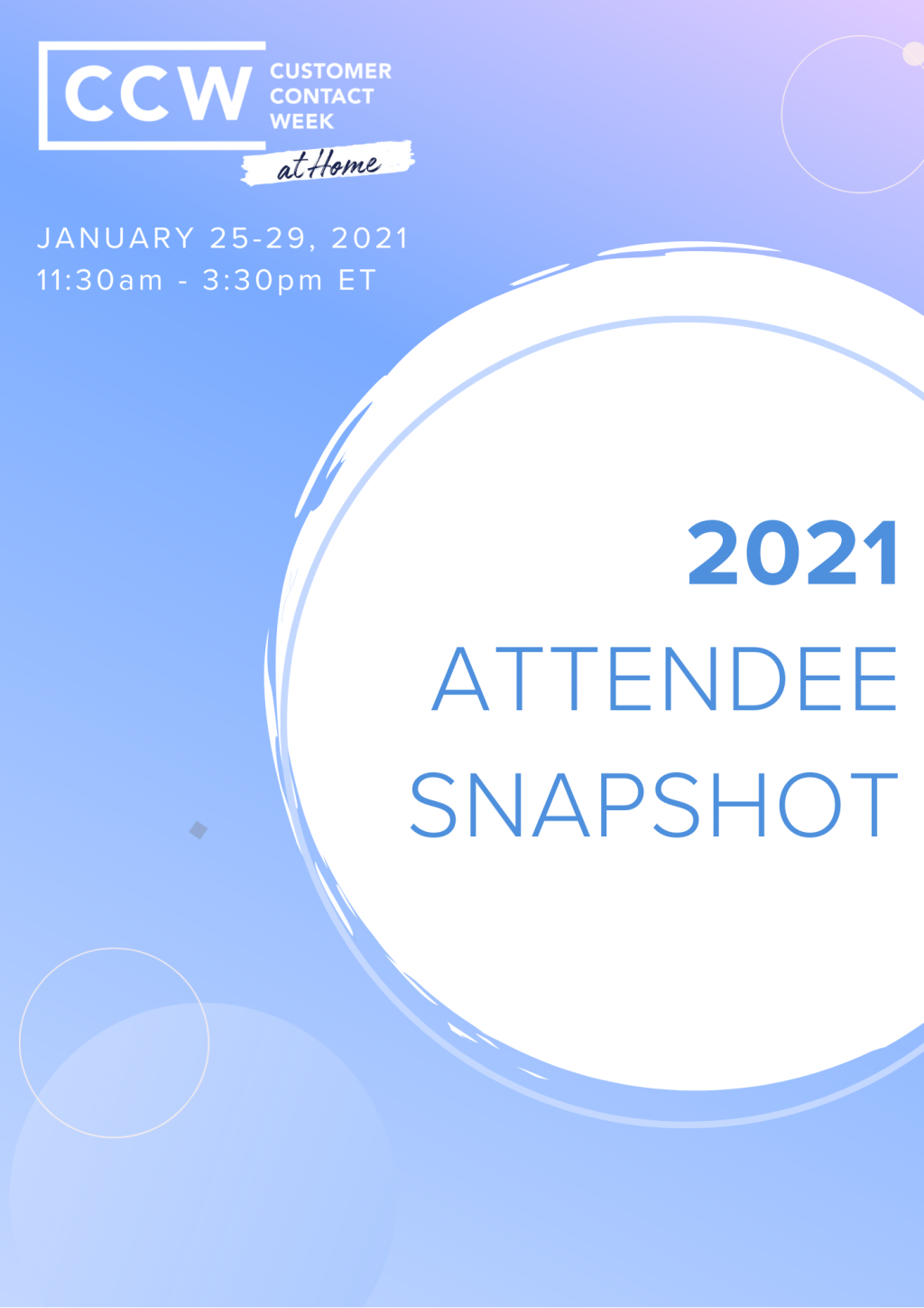 2021 Attendee Snapshot - CCW At Home