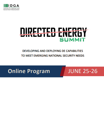 Directed Energy Systems 2020 Official Online Agenda