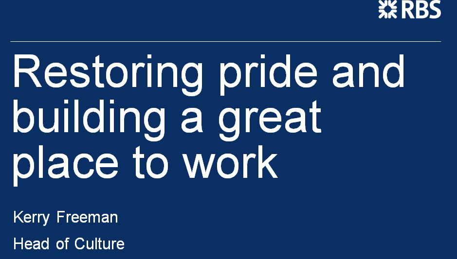 Past Presentation: Restoring pride and building a great place to work