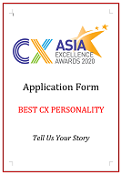 CX Awards Application Form 2020 - Best CX Personality
