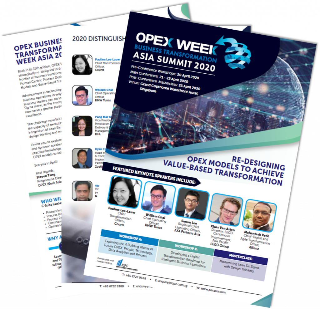 [For sponsors] View The Full Event Outline for OPEX Week Business Transformation Asia Summit 2020