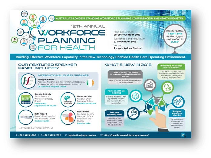 Download 2018 Program - Workforce Planning for Health