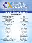 CX Asia Week 2019 - Current Attendee Snapshot