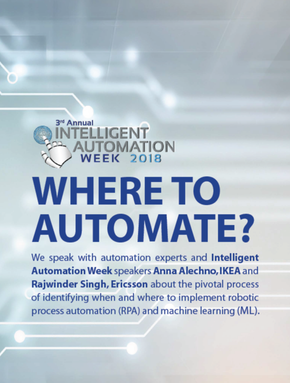 IA Week 2018 - spex - Where to Automate