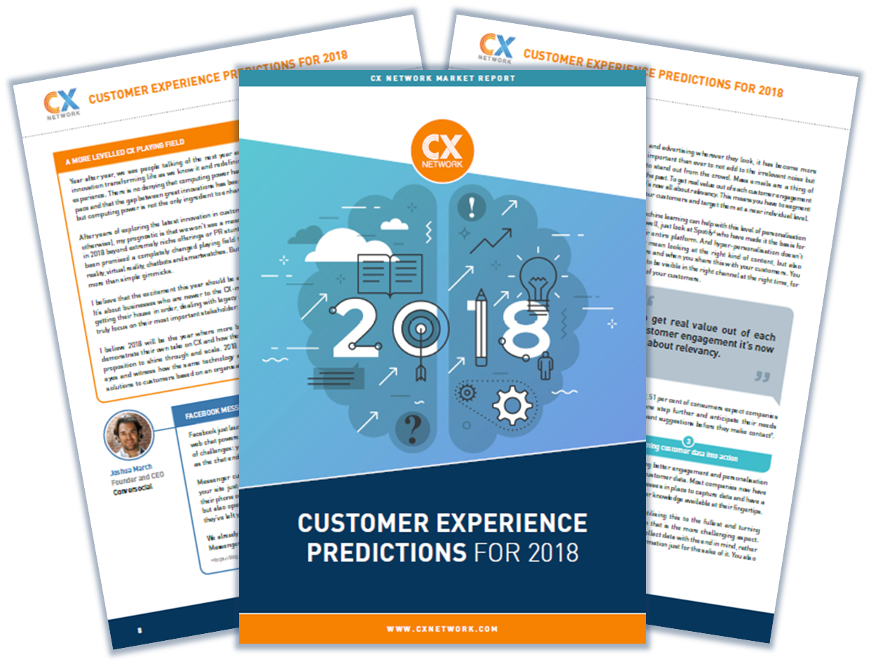 Customer Experience Predictions für 2018