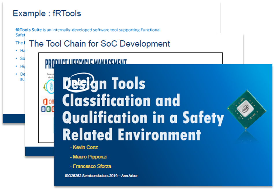 Intel Presentation: Design Tools Classification and Qualification in a Safety Related Environment