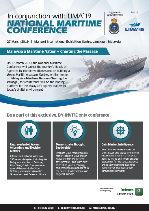 View the Conference Outline - LIMA `19 National Maritime Conference