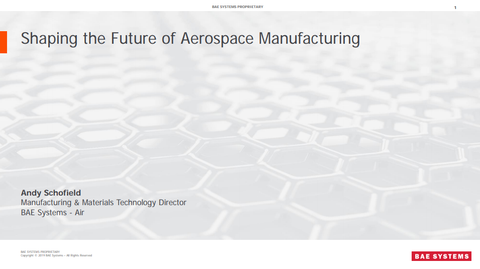 Shaping the Future of Aerospace and Space Manufacturing