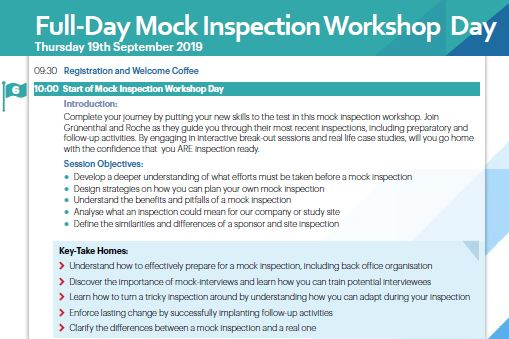 Mock Inspection Workshop Day: Put your practical skills to the test