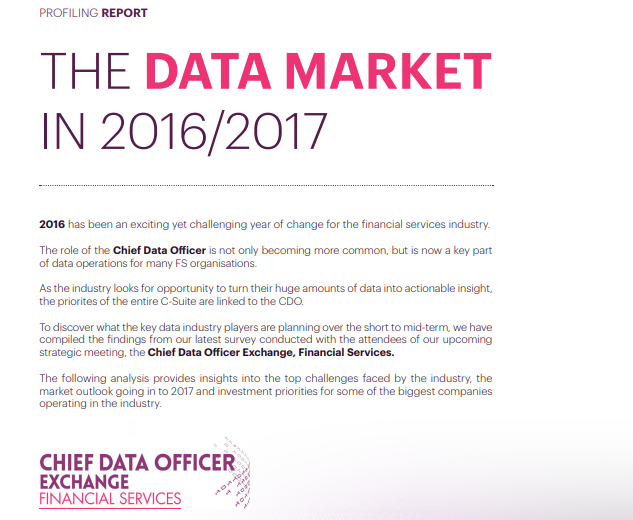 Data Market Report