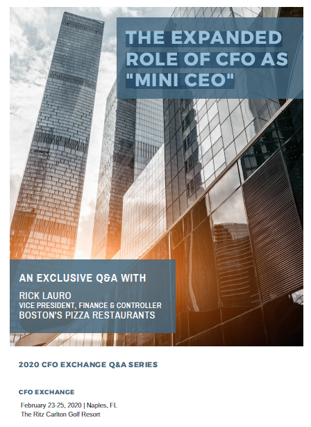 "CFO Exchange Series Q&A: The Expanded Role of CFO as ""Mini CEO"""