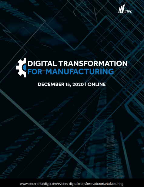 Digital Transformation for Manufacturing Preliminary Agenda