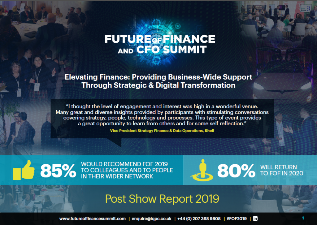 Post Show Report | Future of Finance and CFO Summit 2019